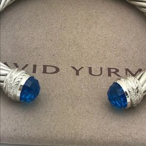 BEAUTIFUL~ DAVID YURMAN 7mm DIAMOND BLUE TOPAZ
